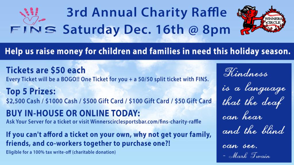 Fins 3rd Annual Charity Christmas Raffle