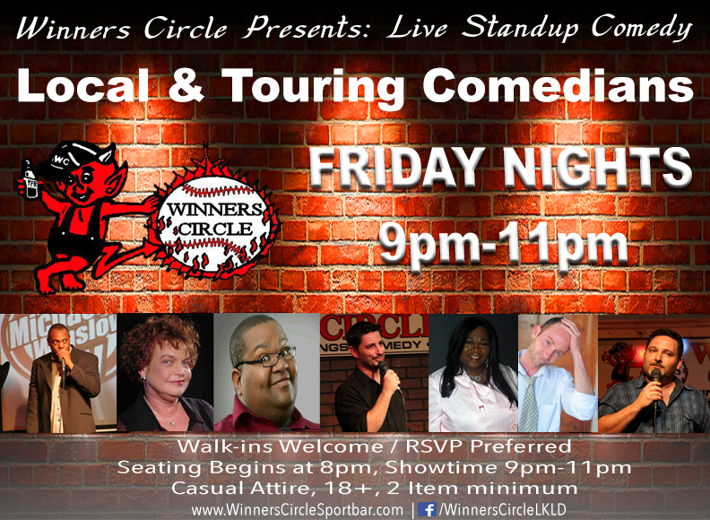 Friday Night Comedy Night at Winners Circle Sportsbar - Lakeland, Florida