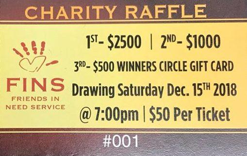 FINS Charity Raffle 2018 at Winners Circle Lakeland, FL