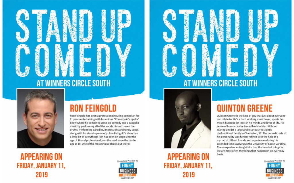 Friday Night Comedy at Winners Circle - Lakeland with Ron Feingold and Quinton Greene
